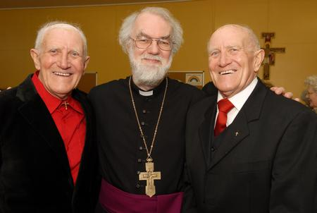 Dr Rowan Williams with twins Donald Patrick Wilson and Patrick Donald Wilson