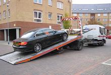 Seized car, Scotney Gardens