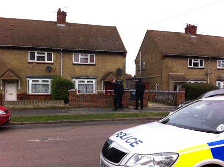 Police throw cordon around house where Kevin Mckinley lived in Stone.