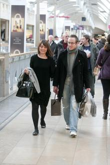 Shoppers at Bluewater shopping centre