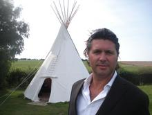 Gavin Oakley from Wallett s Court outside the new Tipi in the grounds