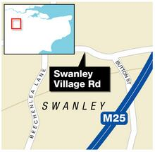 Swanley Village Road was closed by police investigating a woman's murder