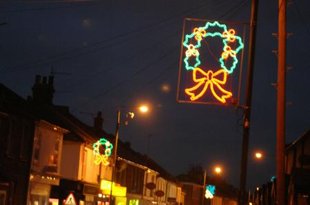 Christmas lights in Swanscombe from last year
