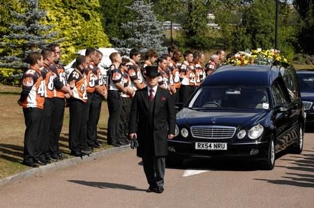 Alan Newcombe's funeral