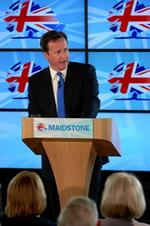 Prime Minister David Cameron delivers local election and no to AV speech at New Line Learning Academy, Boughton Lane, Loose.