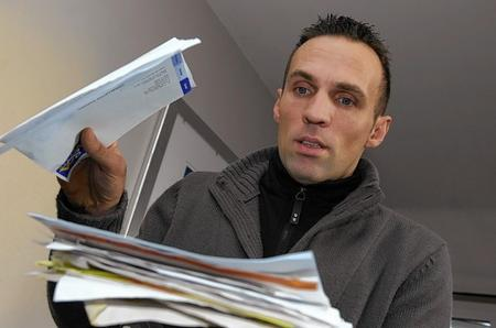Craig McGarrity found a bag full of confidential documents dumped in his floor pot near his front door. The documents belong to Ferris & Co estate agents.