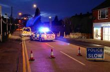 Crash closes village road