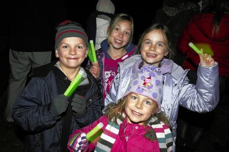 Villagers gather for a firework display in Bearsted