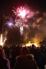 Hundreds attend the huge bonfire and fireworks display at Larkfield Village Hall