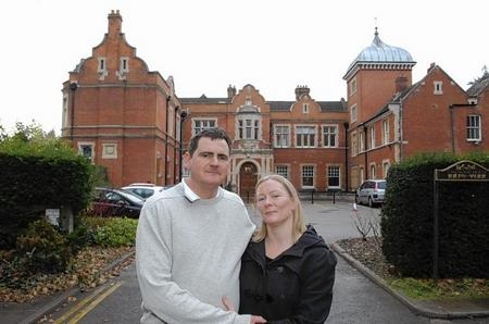 Newlyweds Mark and Amanda Haffenden-Boyce were married at the Oakwood House, Maidstone, and had a number of envelopes containing money stolen.