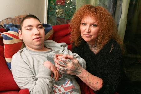 Mandy Holden and disabled son Joe Ware, of Plains Avenue, Maidstone