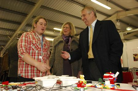Prince Andrew met apprentices at the Kentchoices 4 U Live show at the County Showground