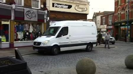 Security van sounds alarm in Sheerness High Street