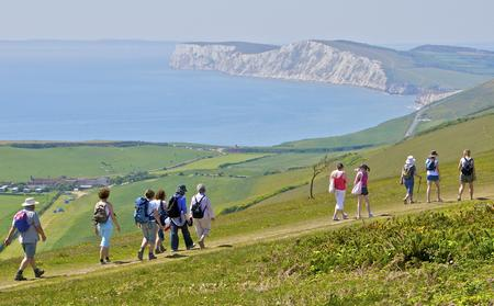 Walking is popular among visitors to the Isle of Wight