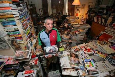 Hoarder Brian Clenshaw at home in Tunbridge Wells