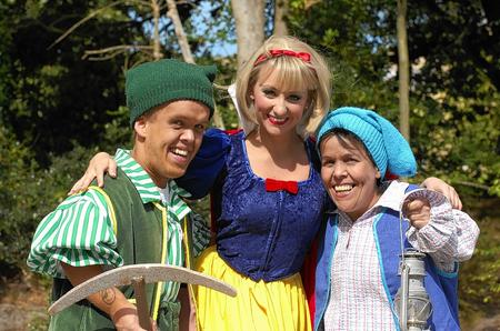 Jenny Jones of the children's TV show Hi-5 as Snow White at the Assemly Hall Theatre