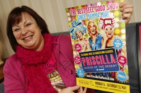 Tracy Warne, from Southborough, loves the dazzling lights and catchy tunes of musical Priscilla