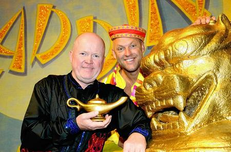 Aladdin stars Steve McFadden, left, and Matt Slack