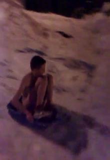 Naked sledger in Faversham