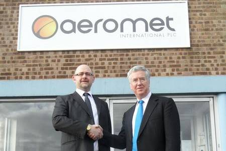 Business minister Michael Fallon visits Aeromet in Rochester