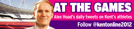 Alex Hoad at the Games - Twitter button