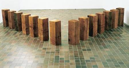 Carl Andre, Phalanx (1981) which will go on show at the Turner Contemporary Picture: Carl Andre. DACS, London/VAGA, New York 2012