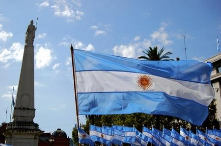 The Argentinian flag