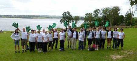 Brachers staff embark on the last leg of their TRYathlon Challenge for Macmillan at Bewl Water