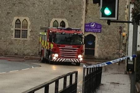 A cordon was put in place in Canterbury because of a gas canister.