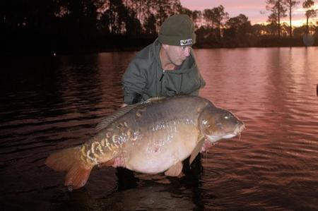 Martin Locke with his 94lb carp