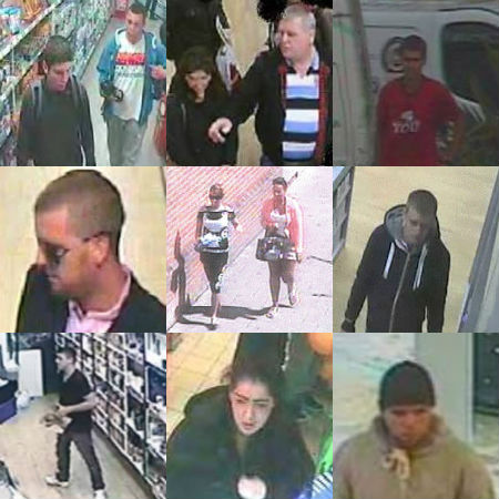 CCTV images of shoplifters