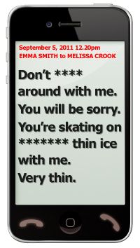 Texts from murder trial defendant Emma Smith to Melissa Crook