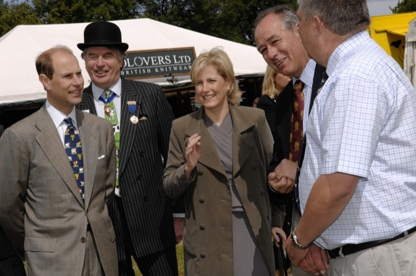 Earl and Countess of Wessex visiting the show.