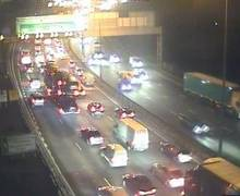 Delays build on the anticlockwise section of the M25 near the Dartford Crossing