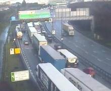 Queues at the Dartford Crossing on January 31