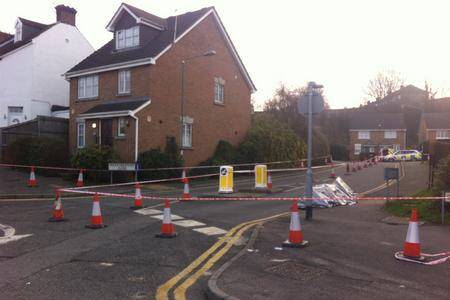 Scene of Dartford shooting in which man died.
