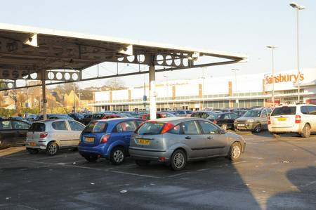 Sainsbury's car park in Dartford