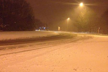 A snowy road in Dover. Picture by Scott Janaway