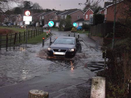 Flooding in Downswood, Maidstone