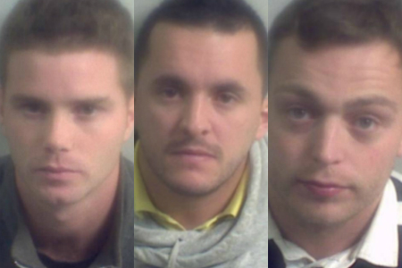 Drugs gang members Daniel Bridge, Lee Phillips and Daniel Dage