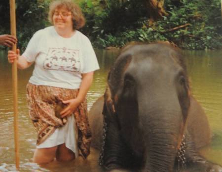 Maureen Davey got up close with elephants in Sri Lanka