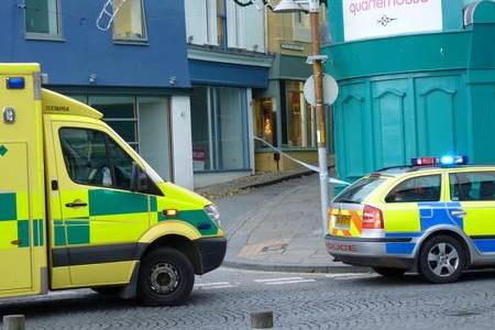 Emergency services at the scene of the attack in Folkestone's Old High Street