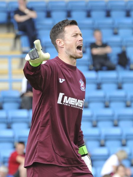 Gills keeper Stuart Nelson has his say