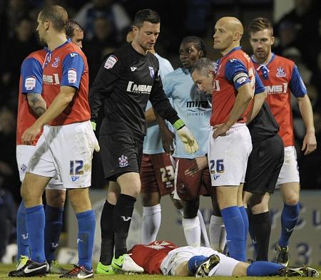 Concern as Callum Davies is injured