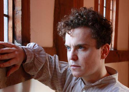Joshua McGuire plays the title role in Globe Theatre Production's Hamlet. Picture: Fiona Moorhead.