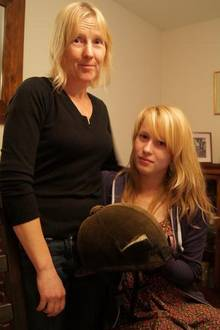 Faversham mum Ann Sage with her daughter, Canterbury College student Emma, who was attacked by a dog