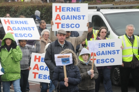 Tesco protest march