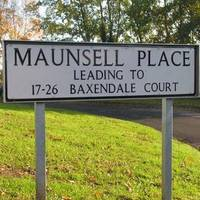 Maunsell place road sign in Ashford