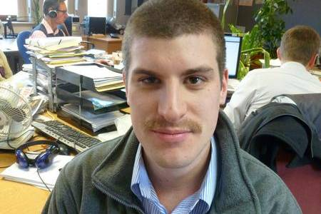 Reporter Tim Collins led the KM Group Movember team