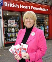 Ashford British Heart Foundation manager Tina Shorter